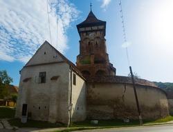 Fortified church in Valea Viilor village, Transylvania, Romania