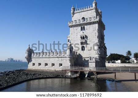 Fortified tower located in Santa Maria de Belem Lisbon