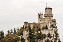 fortress and wall of San Marino Republic