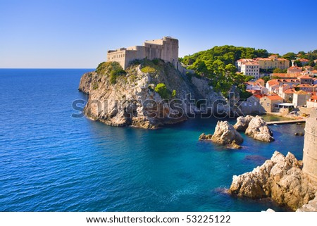 Fortress in Dubrovnik, Croatia