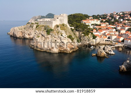 Fortress in Dubrovnik overlooking the Adriatic sea