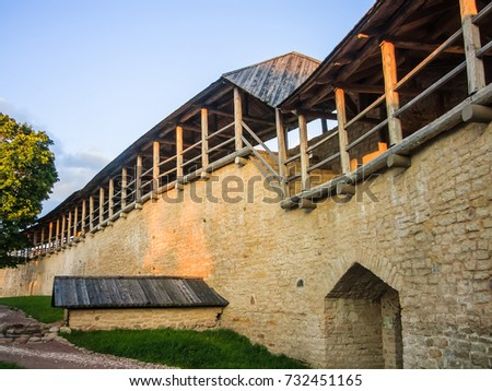 fortress in Izborsk, Russia #732451165