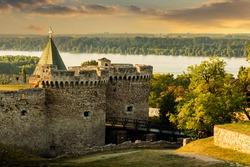 Fortress Kalemegdan on a sunset time. Belgrade, Serbia.