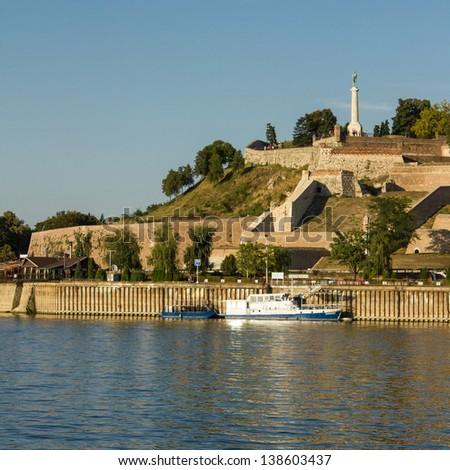 fortress Kalemegdan over danube river in center of Belgrade, Serbia