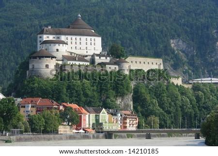 fortress kufstein - stock photo