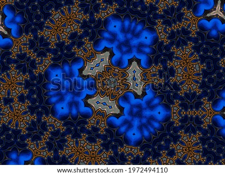Fortuna gold and blue royal ornamental luxury illustration background abstract, 2021 color spring          Foto stock ©