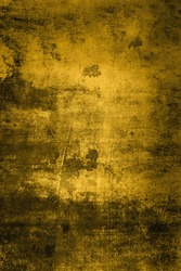 fortuna gold grunge wall background. old painted wall background.