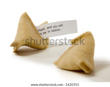 fortune cookie cracked open