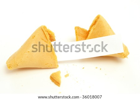 Fortune Cookie with Blank Message