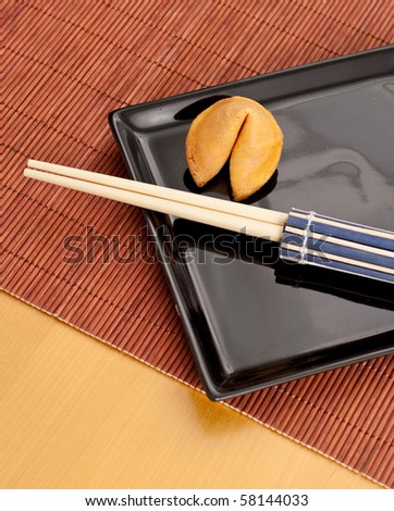 Fortune Cookie with Chop Sticks