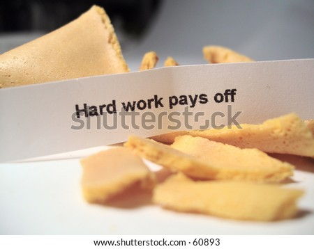Fortune cookie with message