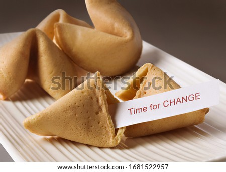 Fortune cookie with Time for change text Stock photo ©