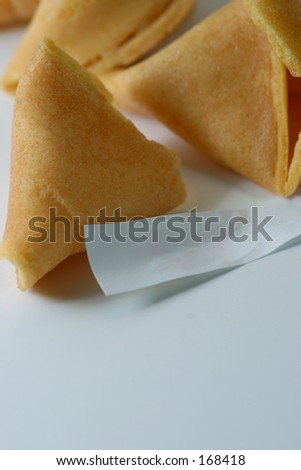 Fortune cookies with blank paper (macro)