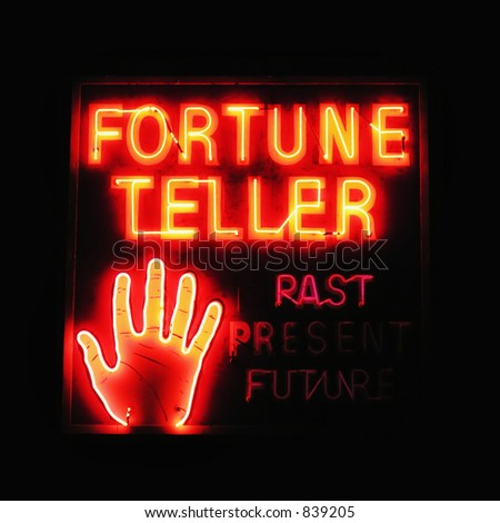 Fortune Teller neon sign