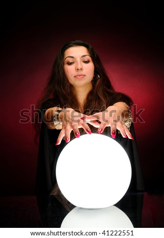 Fortuneteller with magic sphere #41222551