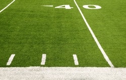 Forty-yard line of American football field