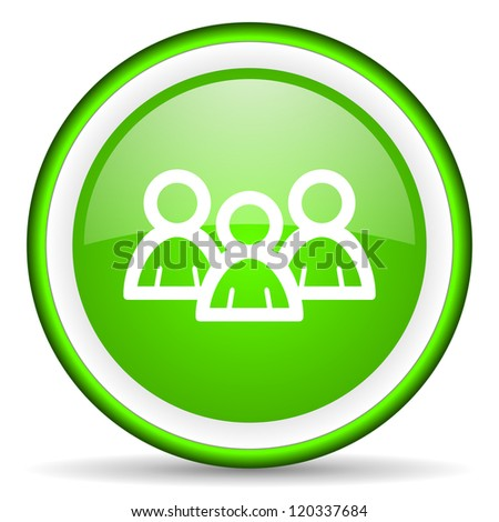 forum green glossy icon on white background