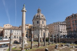 Forum of Trajan, church of Saints Luca and Martina. Trajan's Forum, also remembered as Forum Ulpium in some sources, is the largest and most monumental of the Imperial Forums in Rome