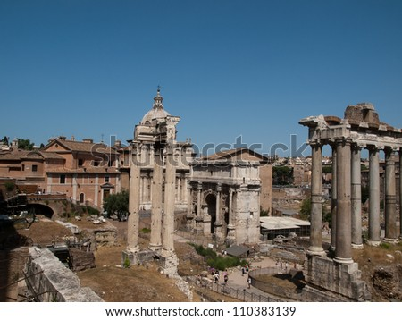 Forum Romanum-Tempe of Saturn,Arch of Severus