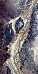 fossil artery, abstract photography of the deserts of Africa from the air. aerial view of desert landscapes, Genre: Abstract Naturalism, from the abstract to the figurative,