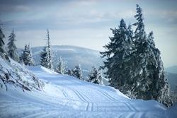 Fotos taken on a wintery hike from cervenohorske sedlo.