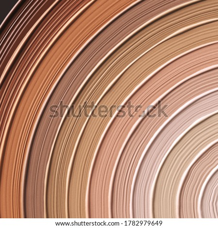Foundation radial gradient cosmetic liquid product background, skin tone swatches, makeup concept, 3d rendering, ストックフォト ©