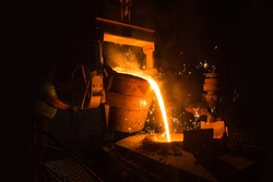 foundry cast iron production site