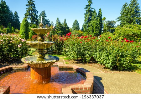 Fount in the Portland Rose Garden
