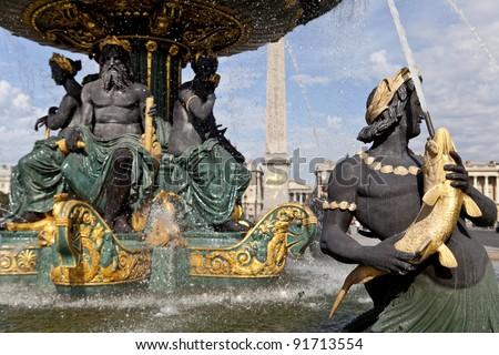 Fountain at Concorde in Paris