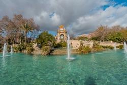 Fountain at Parc de la Ciutadella. Citadel park, Barcelona, Catalonia, Spain