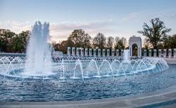 Fountain at the World War II Memorial, Washington D.C.
