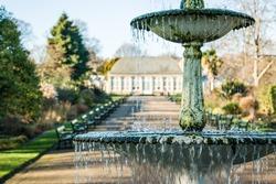 Fountain, Botanical gardens, Sheffield, United Kingdom