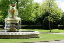 Fountain in a park in London