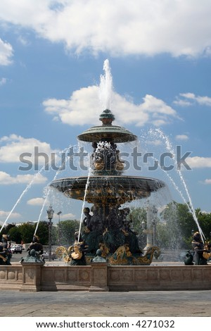 Fountain in Place de la Concorde, Paris