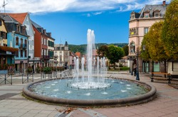 Fountain in Saverne, Alsase, France
