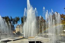 Fountain in the center of City of Pleven, Bulgaria