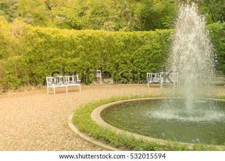 fountain in the garden center