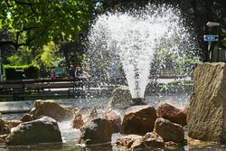 Fountain in the park. In Austria Vienna.