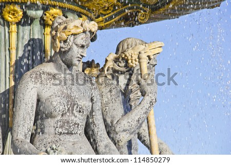 Fountain in the Place de la Concorde, Paris