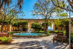 Fountain in Upper Barrakka Gardens, Valletta, Malta