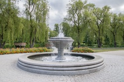 Fountain located at Gdansk Orunia Park.