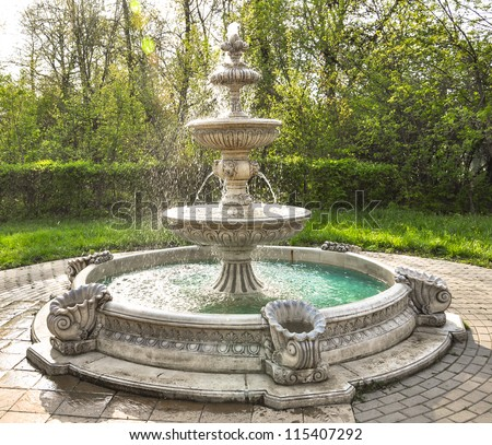 fountain multi-tiered  in the park