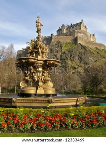 Fountain near Edinburgh Castle