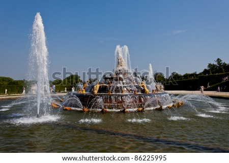 Fountain of Latona in Versailles