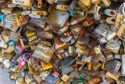 Fountain of locks, Montevideo, Uruguay