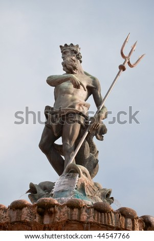 Fountain of Neptune in Piazza Duomo inTrento, Northern Italy