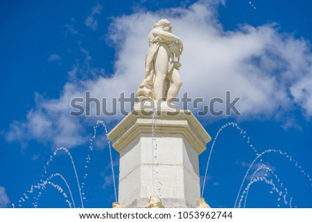 fountain of the mariblanca in...