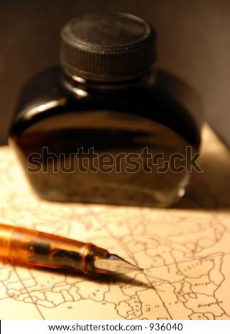 Pluma estilográfica y tinta
