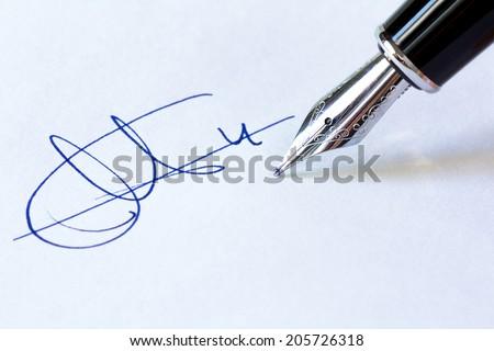 Fountain Pen and Signature
