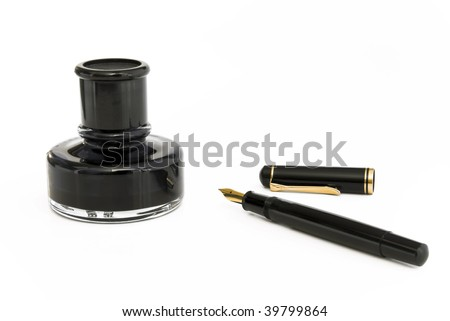 Fountain pen with ink-pot